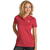 Antigua Women's Atlanta Hawks Xtra-Lite Red Quest Performance Polo
