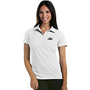 Antigua Women's Utah Jazz Xtra-Lite White Pique Performance Polo