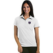 Antigua Women's Sacramento Kings Xtra-Lite White Pique Performance Polo