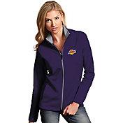 Antigua Women's Los Angeles Lakers Leader Purple Full-Zip Fleece