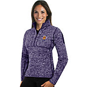 Antigua Women's Los Angeles Lakers Fortune Purple Half-Zip Pullover