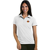 Antigua Women's Los Angeles Lakers Xtra-Lite White Pique Performance Polo