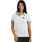 Antigua Women's Denver Nuggets Xtra-Lite White Pique Performance Polo