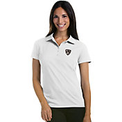 Antigua Women's Brooklyn Nets Xtra-Lite White Pique Performance Polo