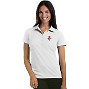 Antigua Women's Houston Rockets Xtra-Lite White Pique Performance Polo