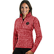 Antigua Women's Toronto Raptors Fortune Red Half-Zip Pullover