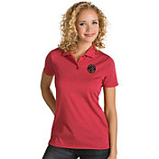 Antigua Women's Toronto Raptors Xtra-Lite Red Quest Performance Polo