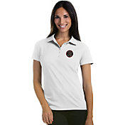 Antigua Women's Toronto Raptors Xtra-Lite White Pique Performance Polo
