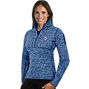 Antigua Women's Philadelphia 76ers Fortune Royal Half-Zip Pullover