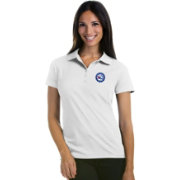 Antigua Women's Philadelphia 76ers Xtra-Lite White Pique Performance Polo