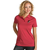 Antigua Women's Portland Trail Blazers Xtra-Lite Red Quest Performance Polo