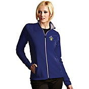Antigua Women's 2017 NBA Champions Golden State Warriors Leader Royal Full-Zip Fleece