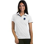 Antigua Women's Golden State Warriors Xtra-Lite White Pique Performance Polo