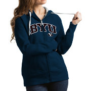 Antigua Women's BYU Cougars Blue Victory Full-Zip Hoodie