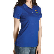 Antigua Women's Kansas Jayhawks Blue Inspire Performance Polo