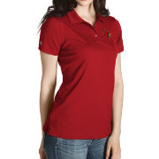 Antigua Women's Louisville Cardinals Cardinal Red Inspire Performance Polo