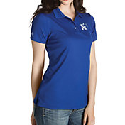Antigua Women's Memphis Tigers Blue Inspire Performance Polo