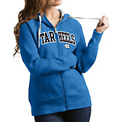 Antigua Women's North Carolina Tar Heels Carolina Blue Victory Full-Zip Hoodie