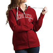 Antigua Women's Indiana Hoosiers Crimson Victory Full-Zip Hoodie