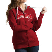 Antigua Women's Indiana Hoosiers Crimson Victory Full-Zip Hoodie