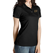Antigua Women's Purdue Boilermakers Black Inspire Performance Polo