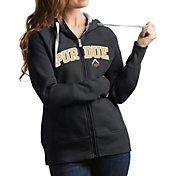Antigua Women's Purdue Boilermakers Grey Victory Full-Zip Hoodie