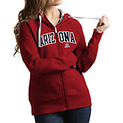 Antigua Women's Arizona Wildcats Cardinal Victory Full-Zip Hoodie