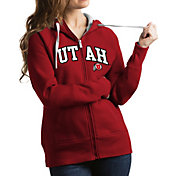 Antigua Women's Utah Utes Crimson Victory Full-Zip Hoodie