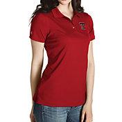 Antigua Women's Texas Tech Red Raiders Red Inspire Performance Polo