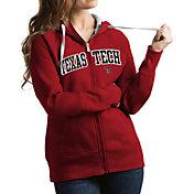 Antigua Women's Texas Tech Red Raiders Red Victory Full-Zip Hoodie