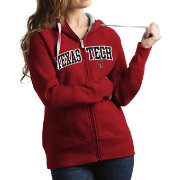 Antigua Women's Texas Tech Red Raiders Red Victory Full-Zip Hoodie