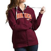 Antigua Women's Virginia Tech Hokies Maroon Victory Full-Zip Hoodie