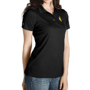 Antigua Women's Wyoming Cowboys Black Inspire Performance Polo