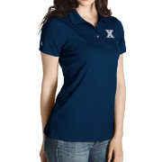 Antigua Women's Xavier Musketeers Blue Inspire Performance Polo