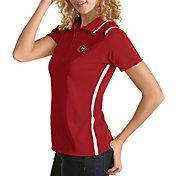Antigua Women's San Francisco 49ers Merit Red Xtra-Lite Pique Polo