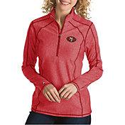 Antigua Women's San Francisco 49ers Tempo Red Quarter-Zip Pullover
