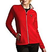 Antigua Women's Tampa Bay Buccaneers Leader Full-Zip Red Jacket