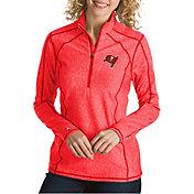 Antigua Women's Tampa Bay Buccaneers Tempo Red Quarter-Zip Pullover
