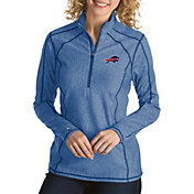 Antigua Women's Buffalo Bills Tempo Navy Quarter-Zip Pullover