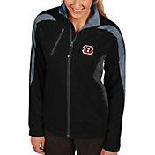 Antigua Women's Cincinnati Bengals Discover Full-Zip Black Jacket