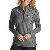 Antigua Women's Denver Broncos Tempo Grey Quarter-Zip Pullover