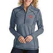 Antigua Women's Chicago Bears Tempo Navy Quarter-Zip Pullover