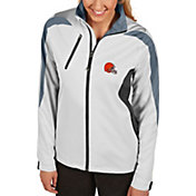 Antigua Women's Cleveland Browns Discover Full-Zip White Jacket