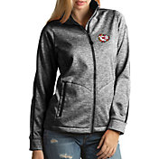 Antigua Women's Kansas City Chiefs Quick Snap Logo Black Golf Jacket