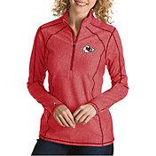 Antigua Women's Kansas City Chiefs Tempo Red Quarter-Zip Pullover