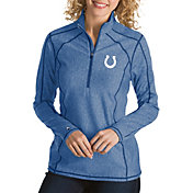Antigua Women's Indianapolis Colts Tempo Royal Quarter-Zip Pullover