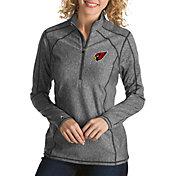 Antigua Women's Arizona Cardinals Tempo Grey Quarter-Zip Pullover