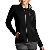 Antigua Women's Atlanta Falcons Leader Full-Zip Black Jacket