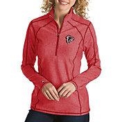 Antigua Women's Atlanta Falcons Quick Snap Logo Tempo Red Quarter-Zip Pullover