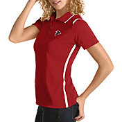 Antigua Women's Atlanta Falcons Merit Red Xtra-Lite Pique Polo